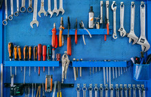 Background With Set Of Tools O...