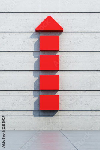 Fotomural  red arrow going upward