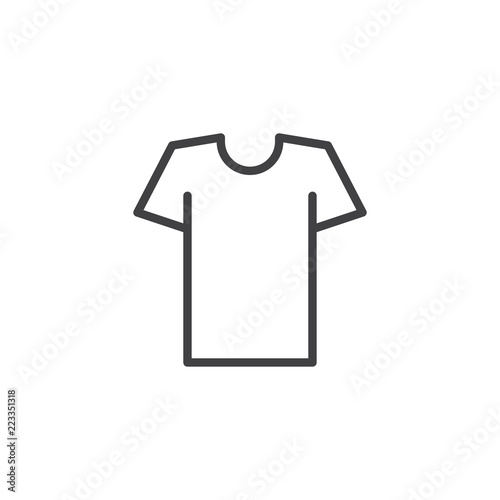 Obraz Tshirt outline icon. linear style sign for mobile concept and web design. Shirt simple line vector icon. Symbol, logo illustration. Pixel perfect vector graphics - fototapety do salonu