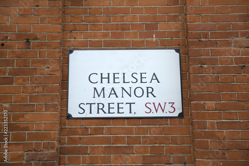 Photo  Chelsea Manor Street Sign; London