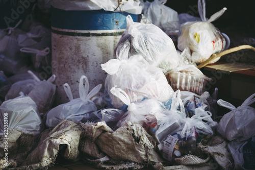 Valokuva  大量のゴミ袋