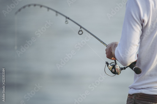 Obraz na plátne 釣りをする人