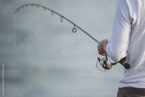Fototapeta 釣りをする人