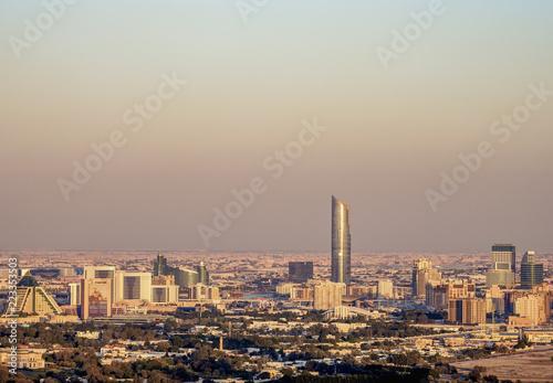 Fotografia, Obraz  Elevated view towards Healthcare and Wafi Cities, Dubai, United Arab Emirates