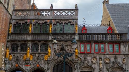 Deurstickers Brugge Bruges beautiful views of the city.