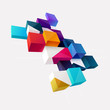 Abstract colorful composition with 3d cubes