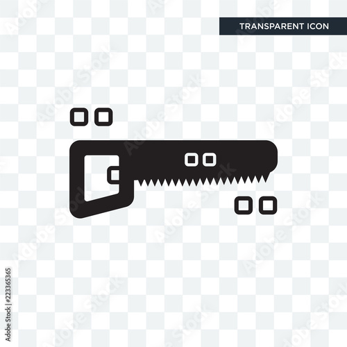 Fotografie, Obraz  Hacksaw vector icon isolated on transparent background, Hacksaw logo design