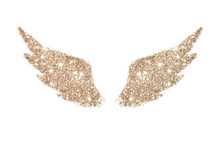 Abstract Wings Of Rose Gold Gl...