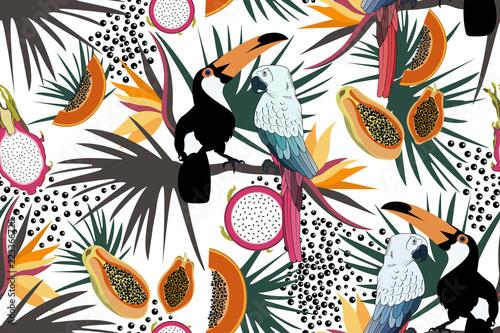 tropikalny-wzor-z-slodkie-tukany-papugi-kwiaty-papaja-smocze-owoce-i-liscie