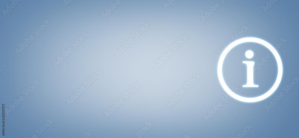 Fototapeta Information Symbol on blue background. Business concept