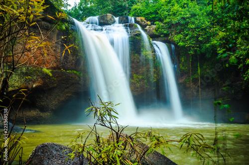Recess Fitting Waterfalls Haew Suwat Waterfall at Khao Yai National Park Thailand