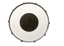 Snare Drum With Black Region In The Center Top View Isolated On White