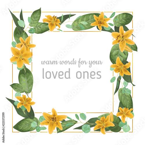 Wedding Invite Invitation Card Vector Floral Greenery Design