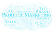 Word cloud with text Product Marketing.