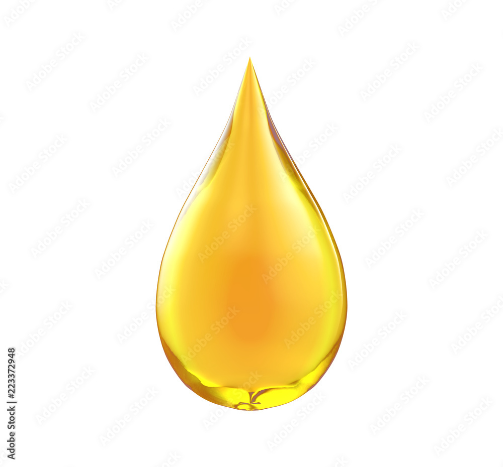 Obraz Oil drop isolate on white background fototapeta, plakat
