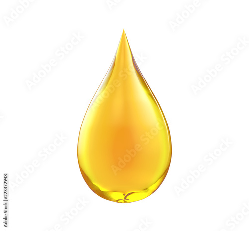 Oil drop isolate on white background Canvas