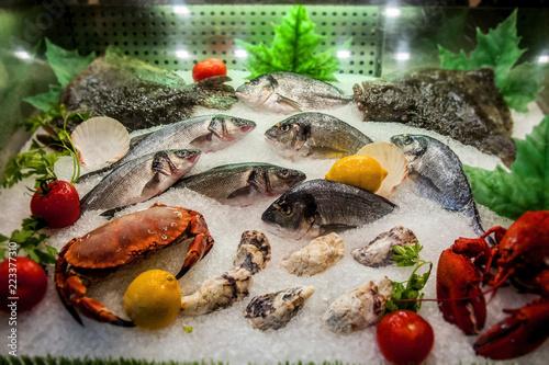замороженные здоровые морепродукты