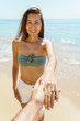 Beautiful Girl Is Getting Engaged In Wedding Proposal On Exotic Beach