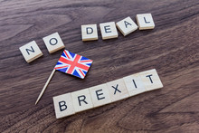 No Deal Brexit With Union Jack...