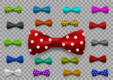 Set Of Multi Colored Bow Tie I...