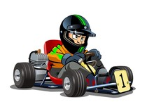 Cartoon Kart Racer Isolated On...
