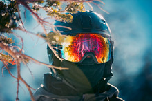 Reflections In A Skiers Goggle...