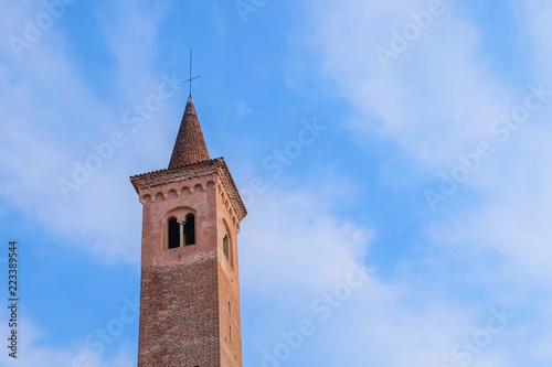 Fotografie, Obraz  Vista del Campanile del Museo Civico di Bassano del Grappa, Vicenza, Italia