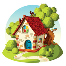 Rustic Stone House. Summer  La...