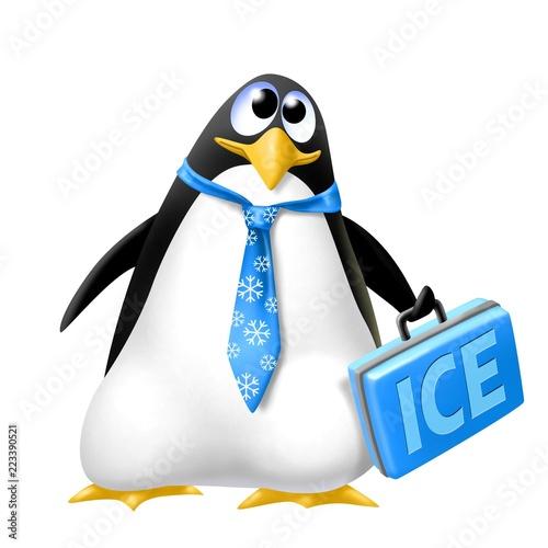 Fototapeta premium pinguino rappresentante