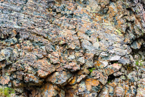In de dag Stenen Background texture of a gray brown stone on the rock of the mountain discovered during archaeological excavations as a monument to millions of years of the formation of cancerous deposits under water