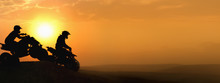 Silhouette ATV Or Quad Bikes J...