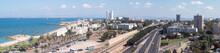 Panorama Of Downtown Haifa And Haifa Harbor And Bay