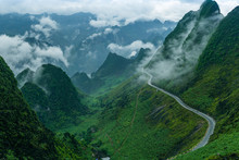 Ma Pi Leng Pass In Ha Giang Province, Vietnam