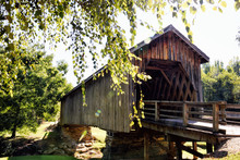 Auchumpkee Creek Covered Bridge In Georgia USA