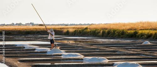 Papiers peints Blanc Marais salant sur l'île de Noirmoutier