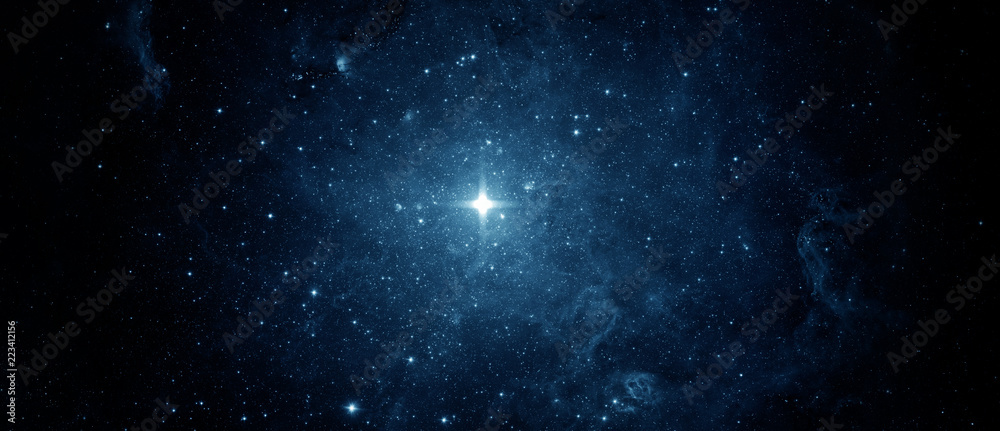 Fototapety, obrazy: Panoramic beautiful night sky and star. Abstract background. Elements of this image furnished by NASA.