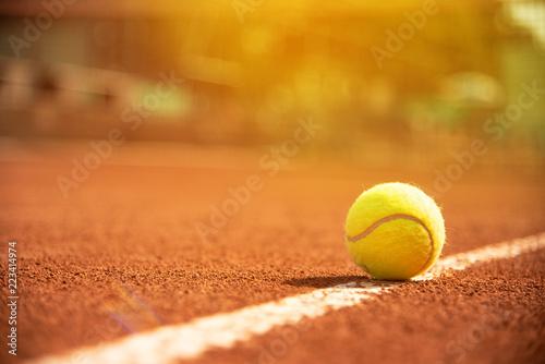 Tennis Tennisball am Tennisfeld Wallpaper Mural