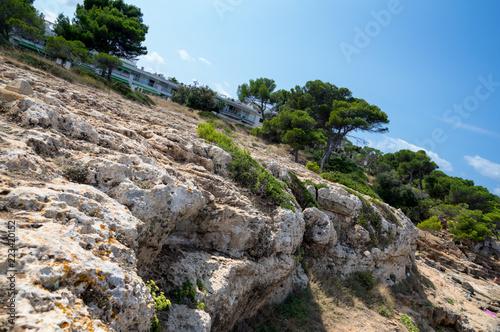 Mallorca rocky coast and blue sky