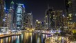 Dubai at night timelapse showing the wealth and splendour of the rich city