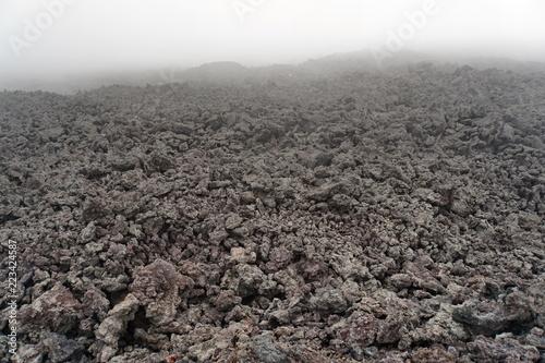 Vulkan Pacaya bei Nebel in Guatemala