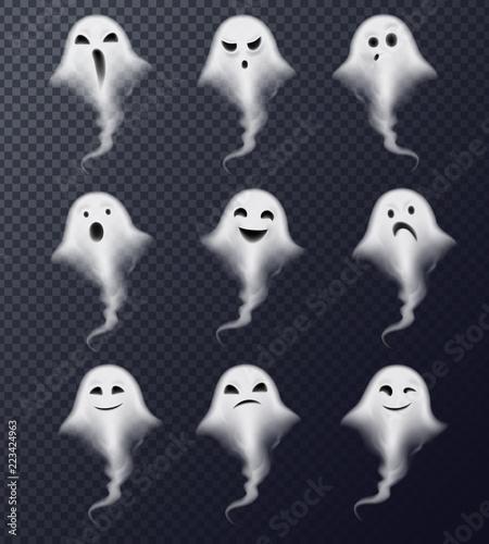 Ghost Realistic Set Transparent