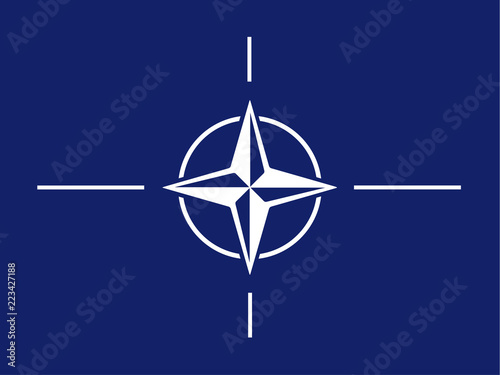 North Atlantic Treaty Organization (NATO) flag isolated vector Canvas Print
