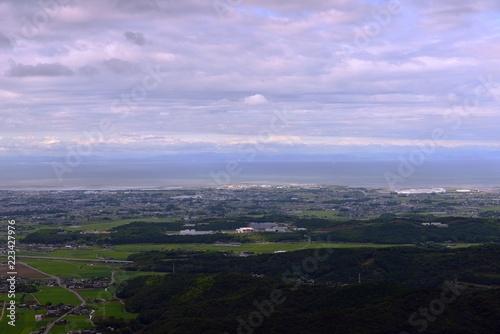 Fotobehang Purper 八面山から中津平野