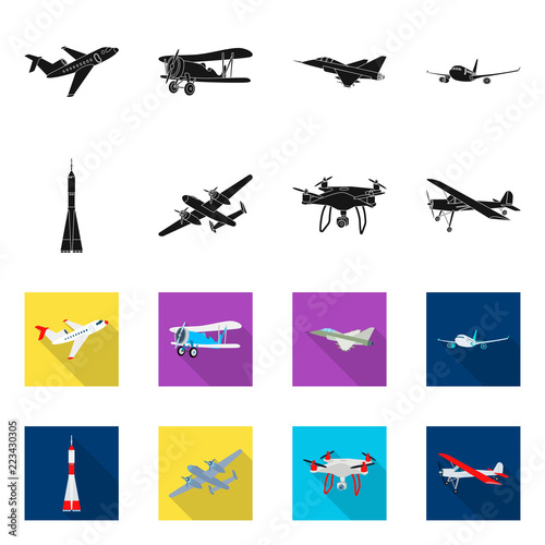 Photo Isolated object of plane and transport sign