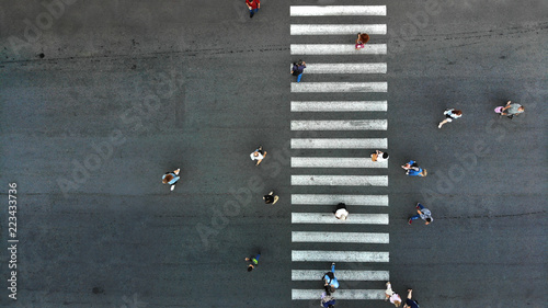Foto Pedestrian crosswalk background
