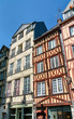 Traditional half-timbered houses in the old town of Rouen, France