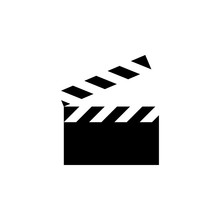 Movie Clapper Icon. Simple Gly...
