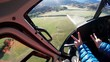 POV, flying helicopter in New Zealand