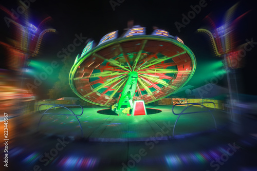 Rotating device in amusement park