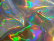 canvas print picture - Holographic bright rainbow multicolor background.